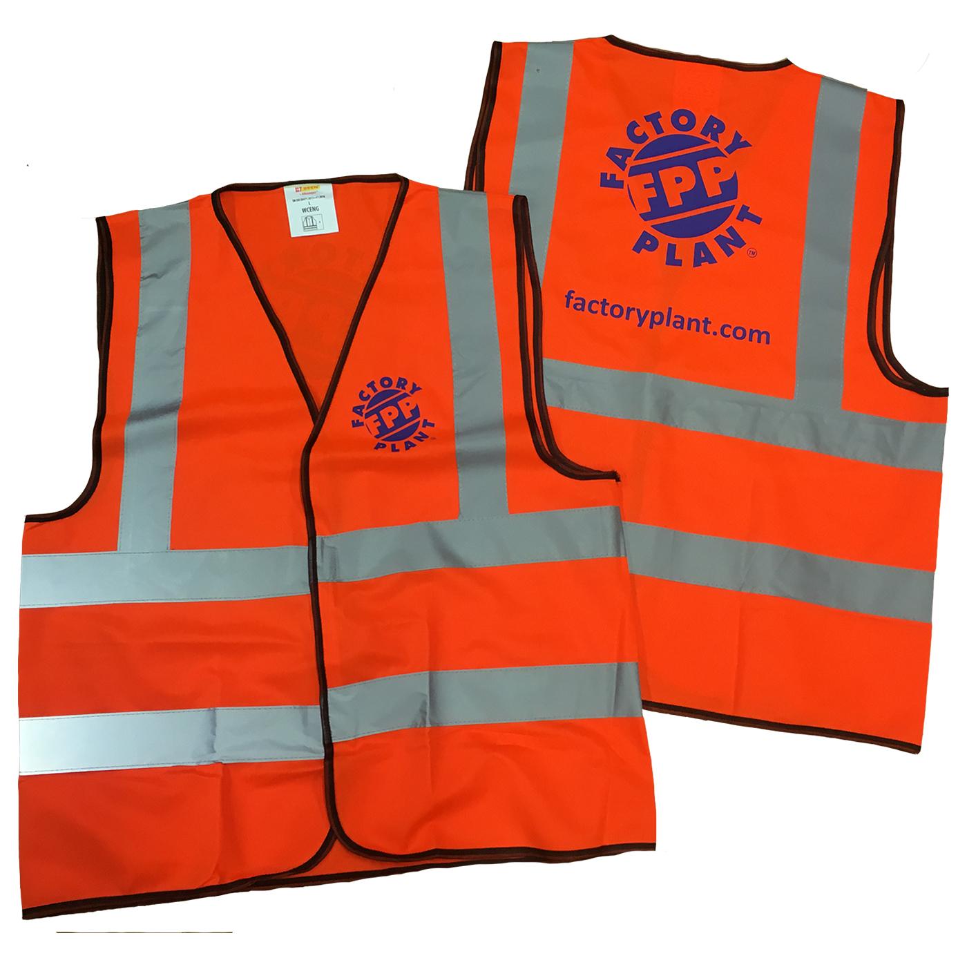 printed hi vis vests
