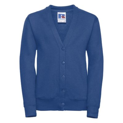 Children's 50/50 girls cardigan - Bright Royal