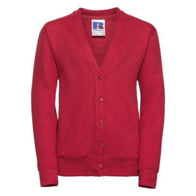 Children's 50/50 girls cardigan - Classic Red