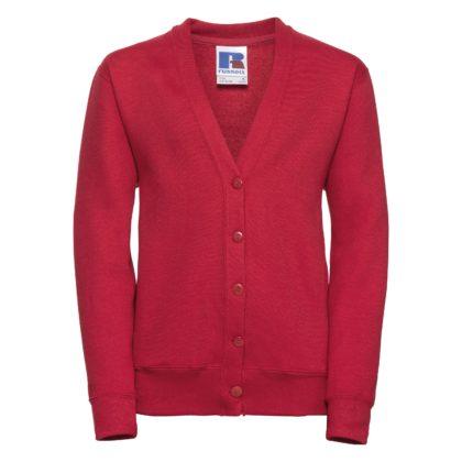 Children's 50/50 girls cardigan - Classic Red