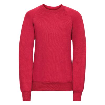 Children's raglan sleeve sweatshirt - Classic Red