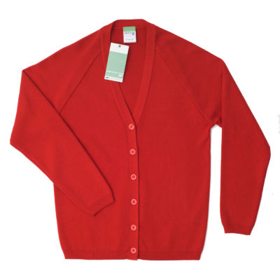 Children's knitted cardigan - Red