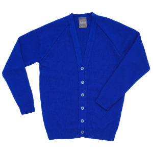 Children's knitted cardigan - Royal Blue