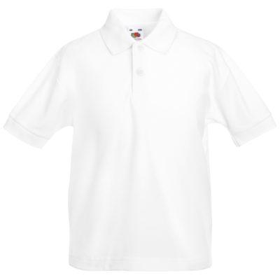 Standard children's polo shirt - White